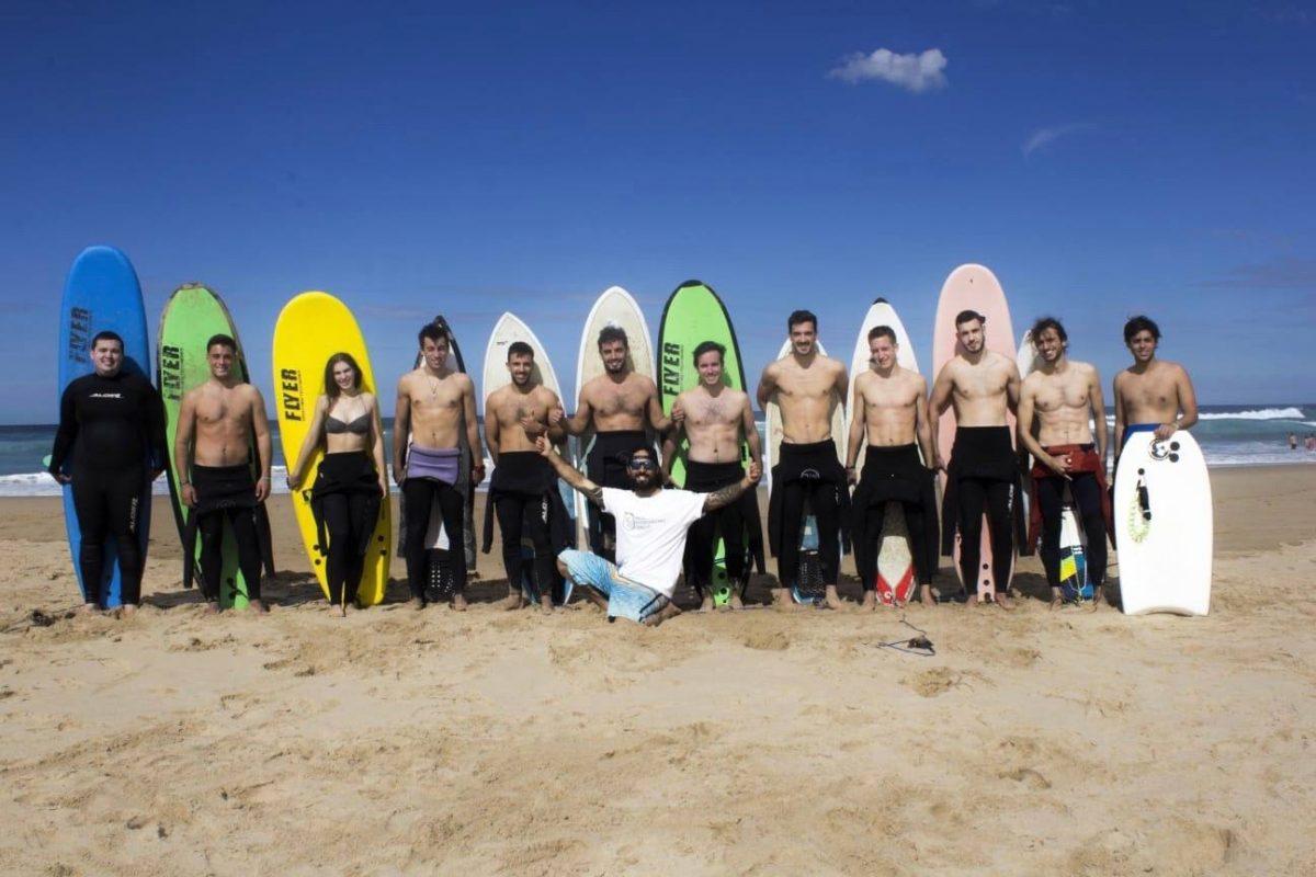 grupo de estudiantes, surftrip, viaje portugal residencia universitaria en malaga, Rut