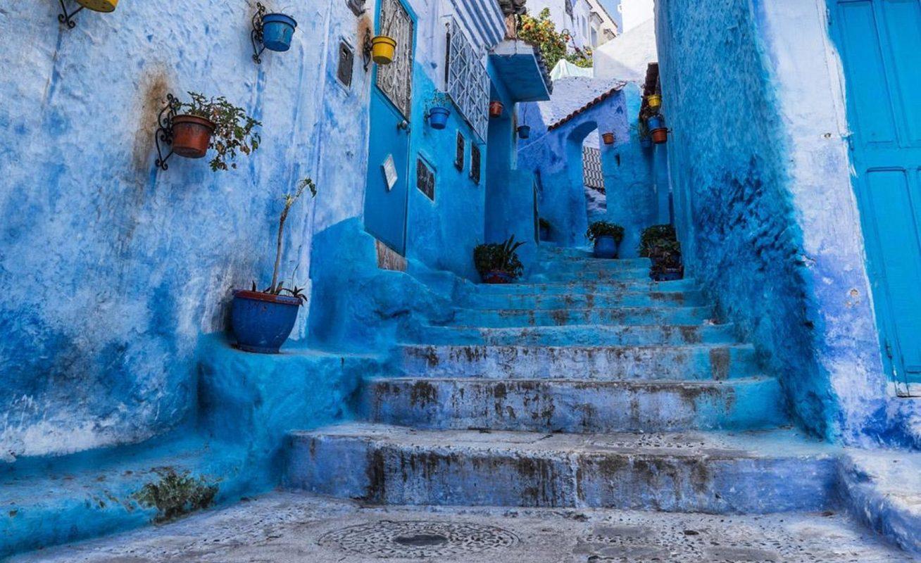 calle azul marruecos, viaje residencia universitaria en malaga, Rut