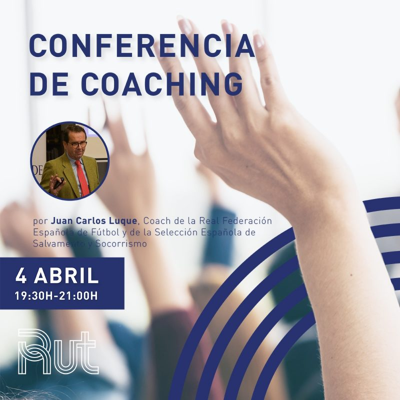 cartel conferencia de coaching, residencia universitaria en malaga, Rut