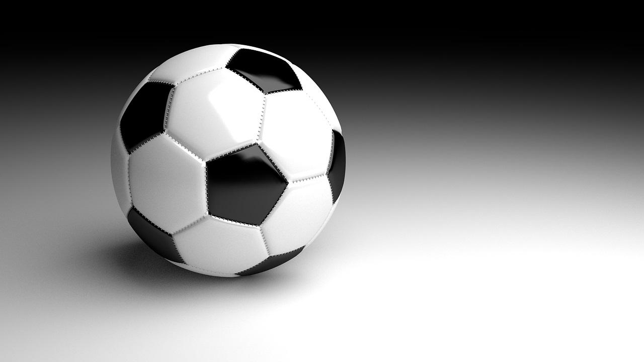 pelota fútbol, blanco y negro