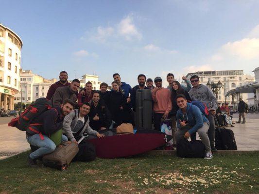 estudiantes en viaje a marruecos residencia universitaria en malaga